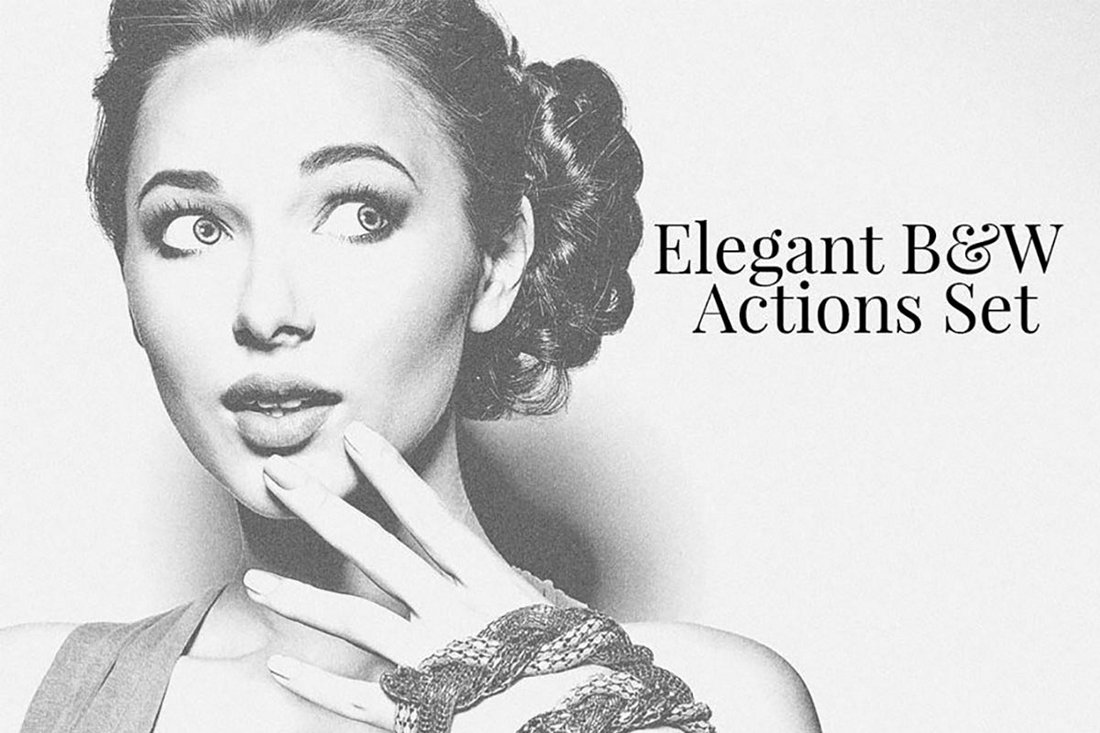 Free Elegant BW Photoshop Actions Set