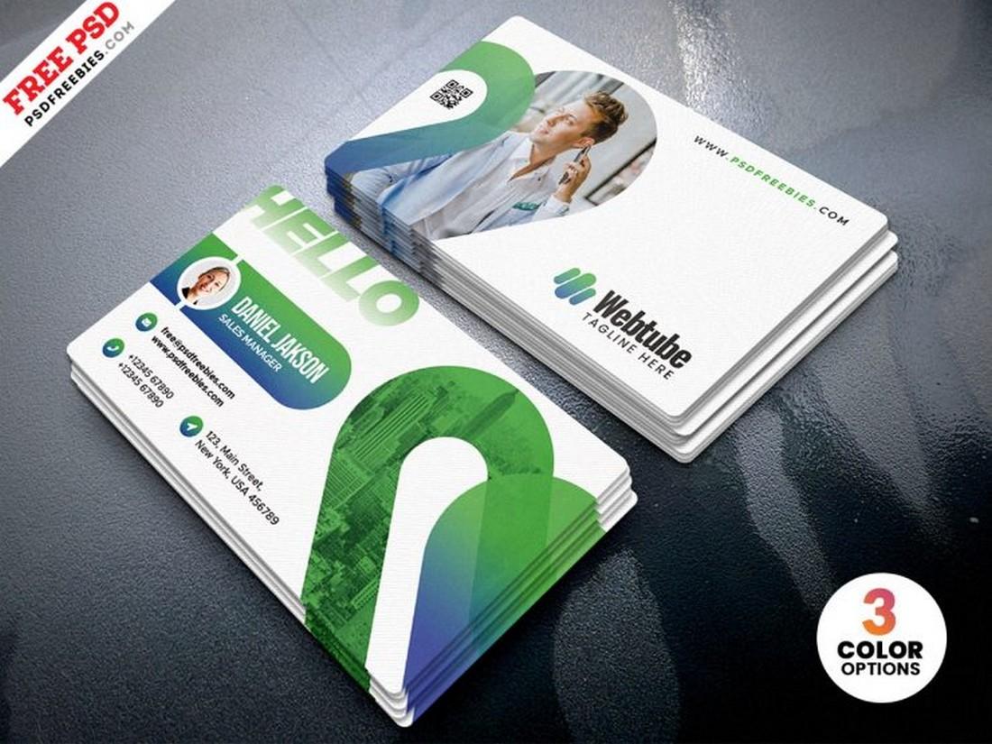 Free Elegant Business Card Template PSD