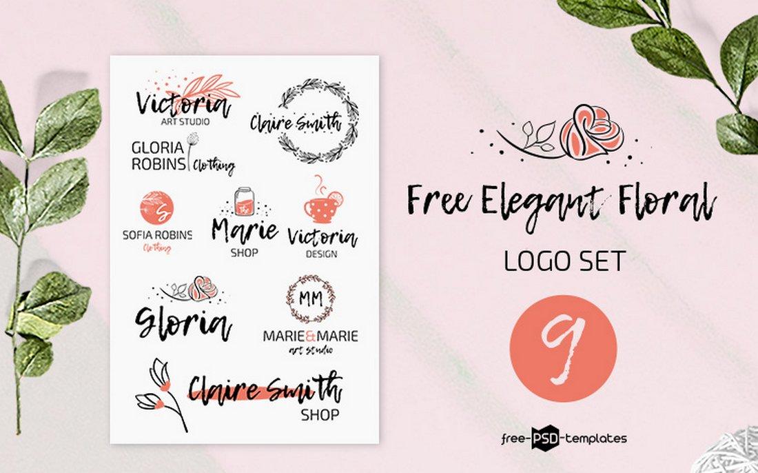 Free Elegant Floral Logo Templates