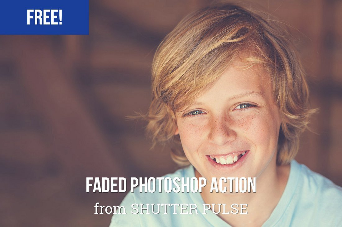 Free Faded Photoshop Action