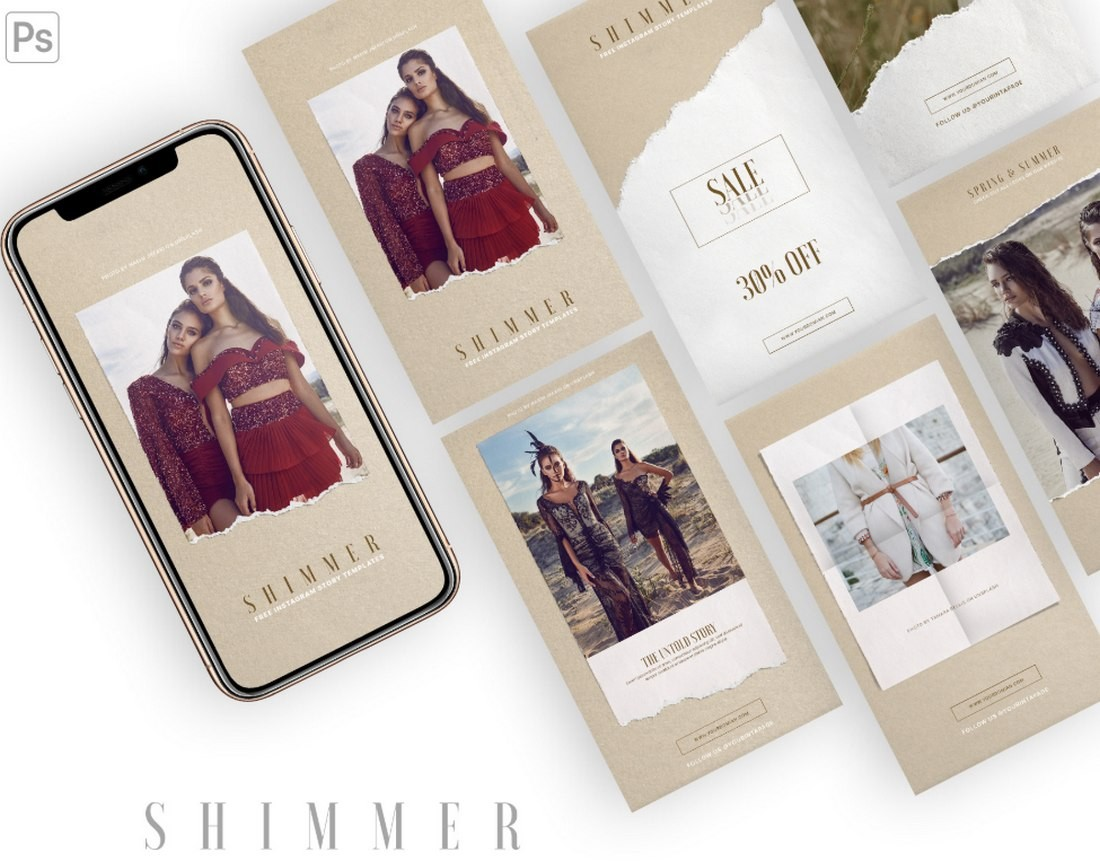 Free Fashion Instagram Story Templates