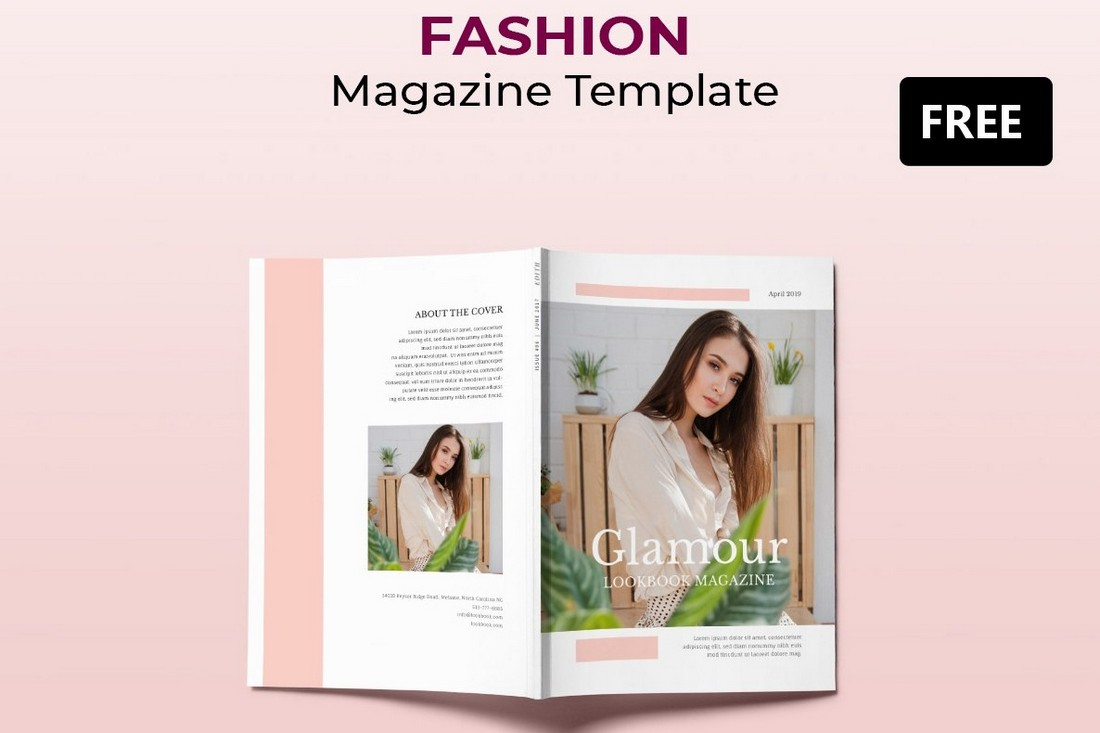 Free Fashion Lookbook & Magazine Template
