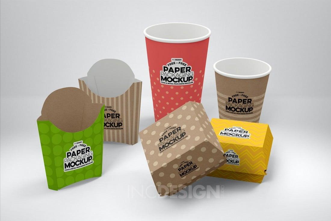Free Fast Food Branding & Packaging Mockups