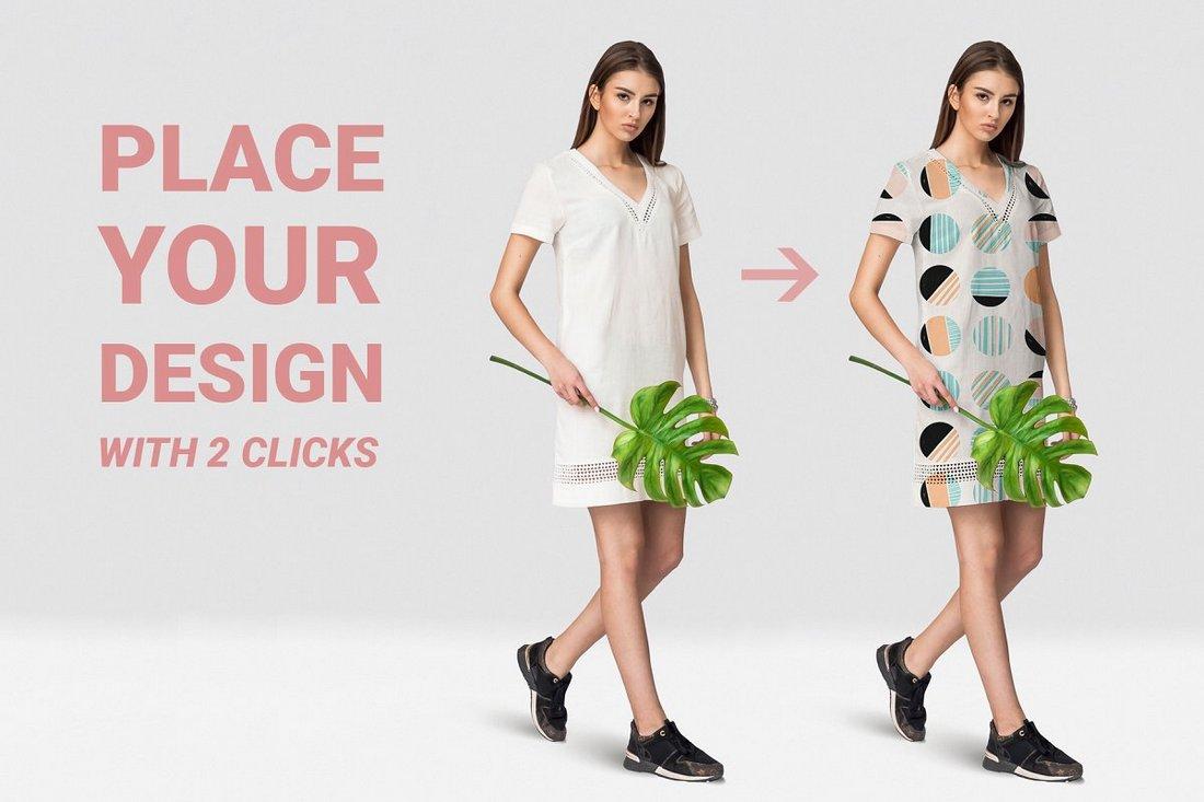 Free Female T-shirt Mockups PSD