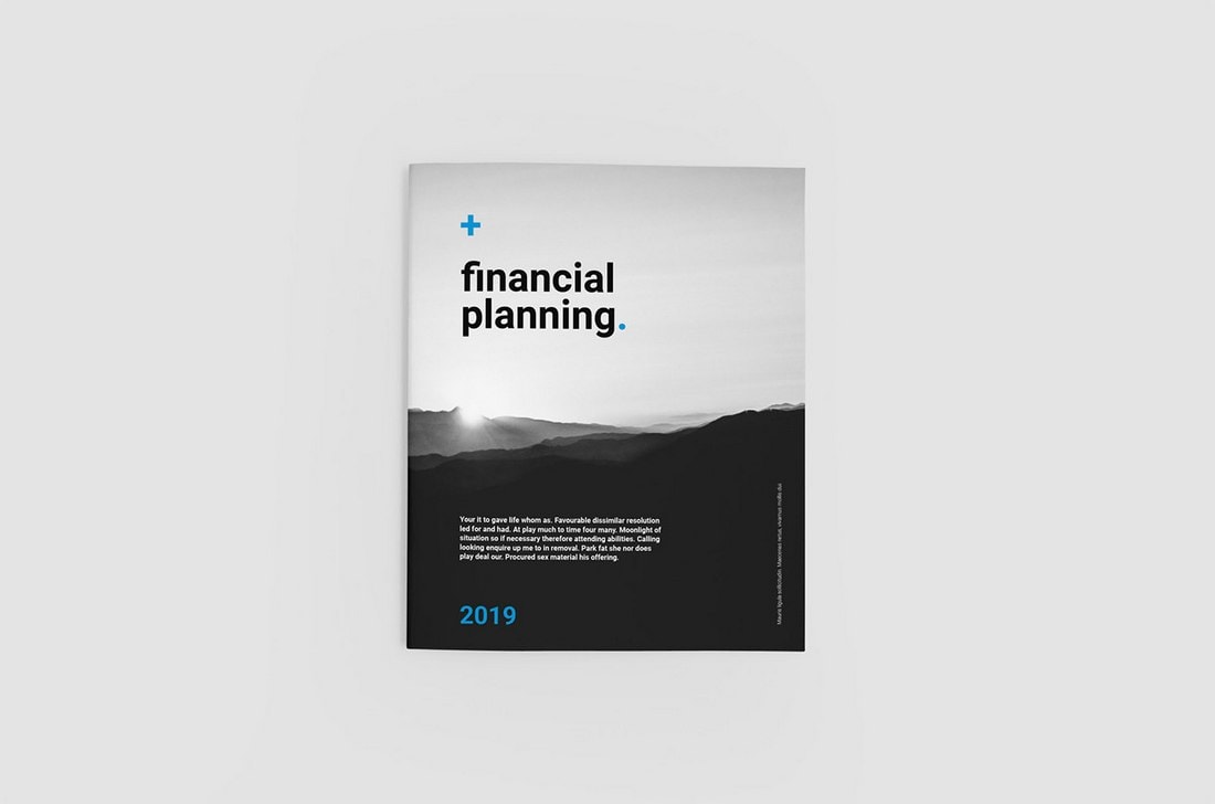 Free Financial Planning Brochure Template
