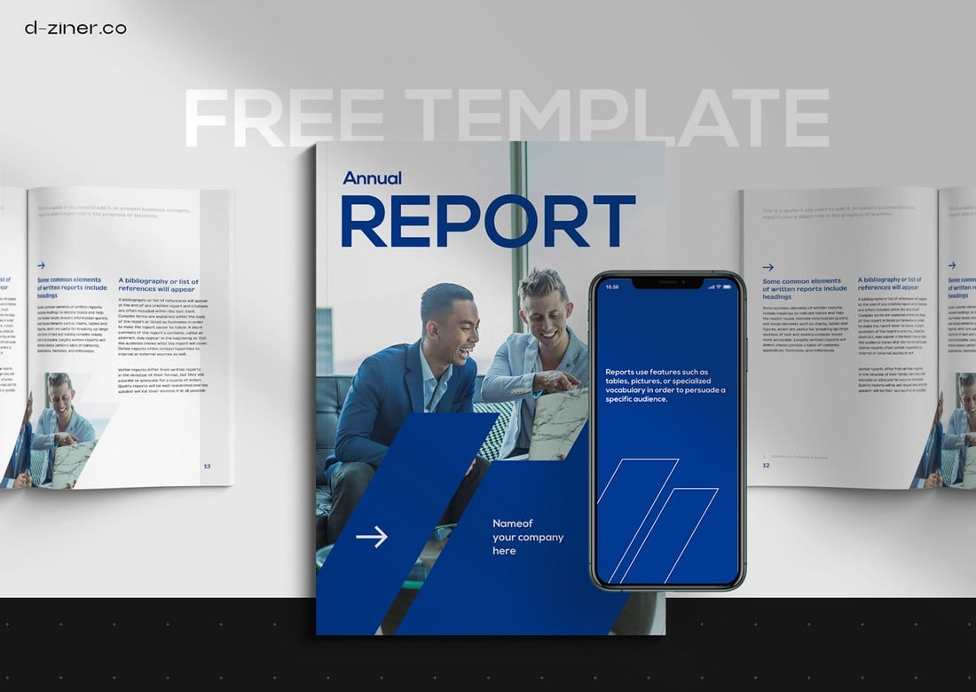 Free-Financial-Report-InDesign-Template 50+ Annual Report Templates (Word & InDesign) 2021 design tips
