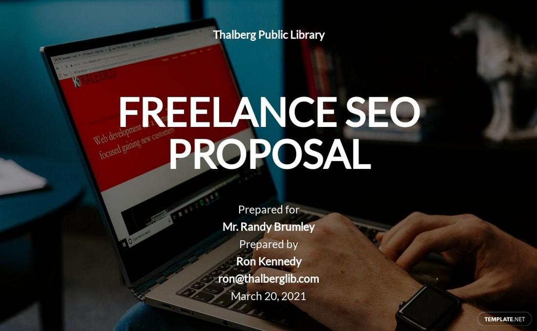 Free Freelance Proposal Word Brochure Template