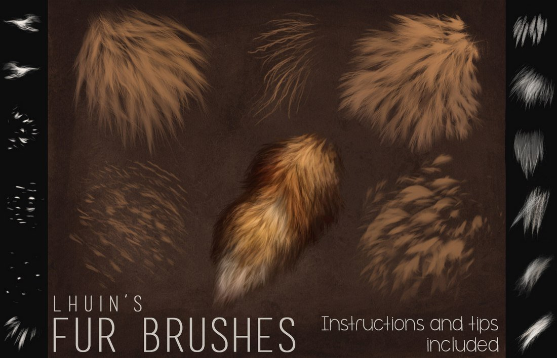 Free Fur Brushes for Photoshop