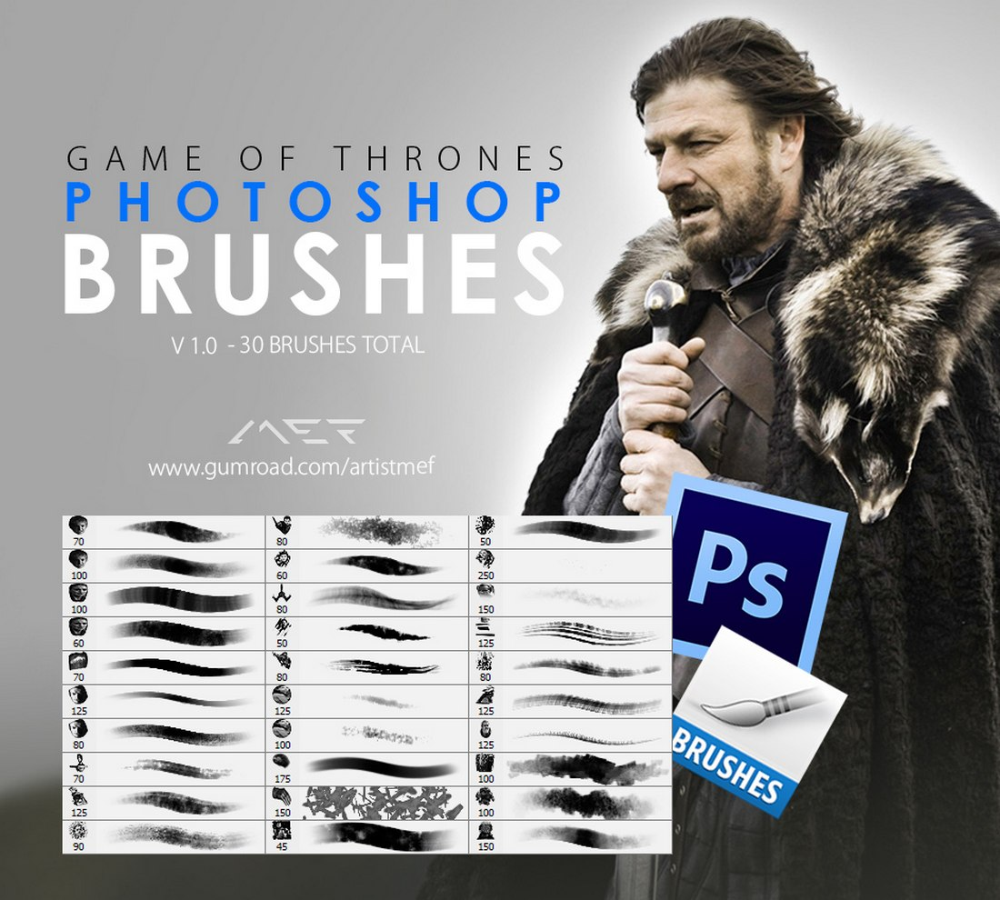Free Game of Thrones Photoshop Brushes