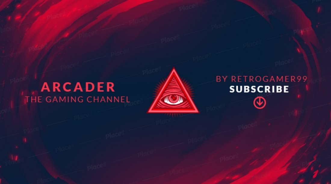 Free Gaming YouTube Cover Art Template