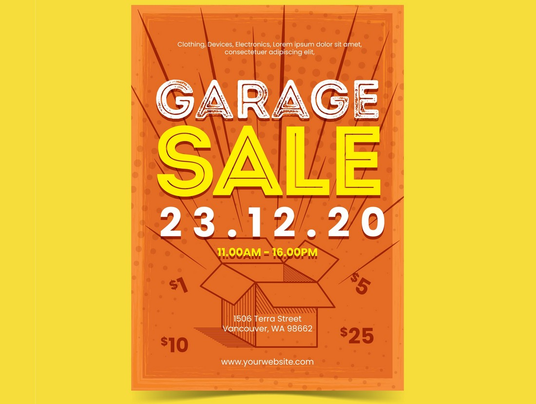 Free Garage Sale Flyer & Poster Template