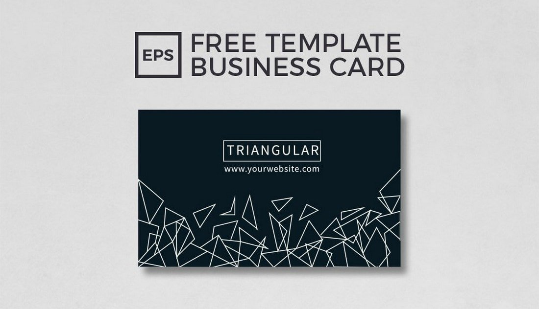 Free Geometric Business Card Template