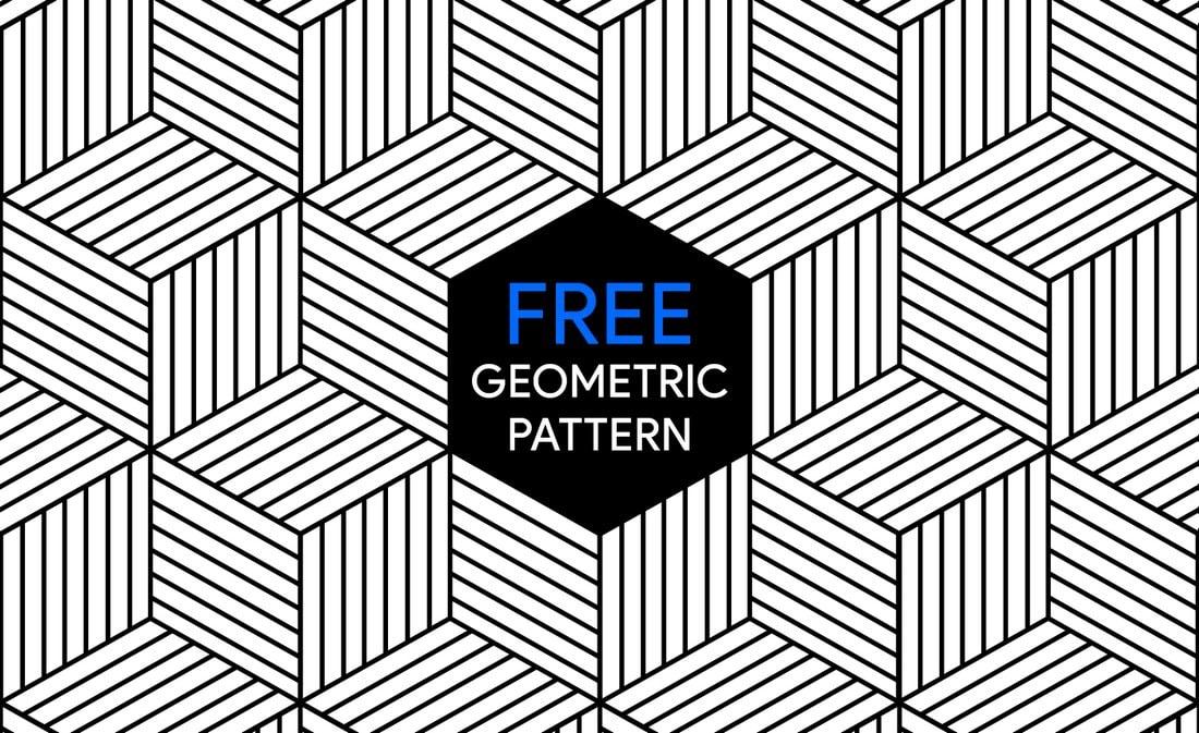 Free Geometric Line Pattern