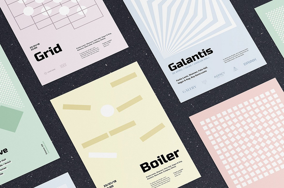 Free Geometry Poster EPS Templates