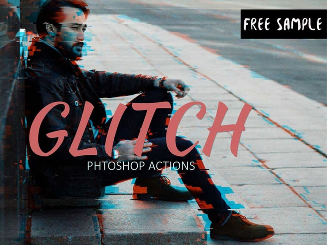 Free-Glitch-Effect-Photoshop-Action 20+ Best Photoshop Filters + Plugins 2020 (+ How to Use Them) design tips
