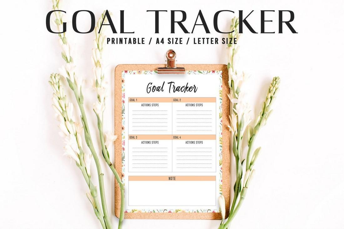 Free Goal Tracker Printable Template