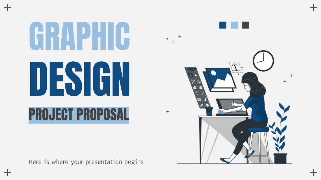 Free-Google-Slides-Project-Proposal-Template 25+ Best Free Google Slides Themes & Templates 2020 design tips