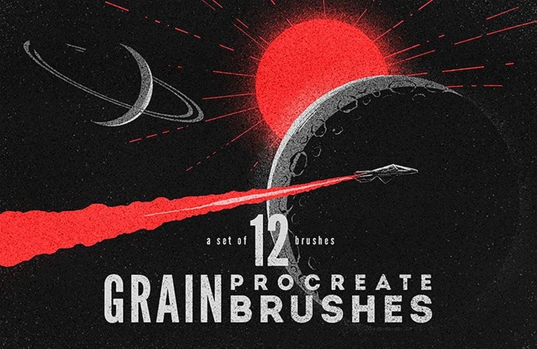 Free-Grain-Procreate-Brushes 30+ Best Procreate Brushes 2020 (Free & Pro) design tips