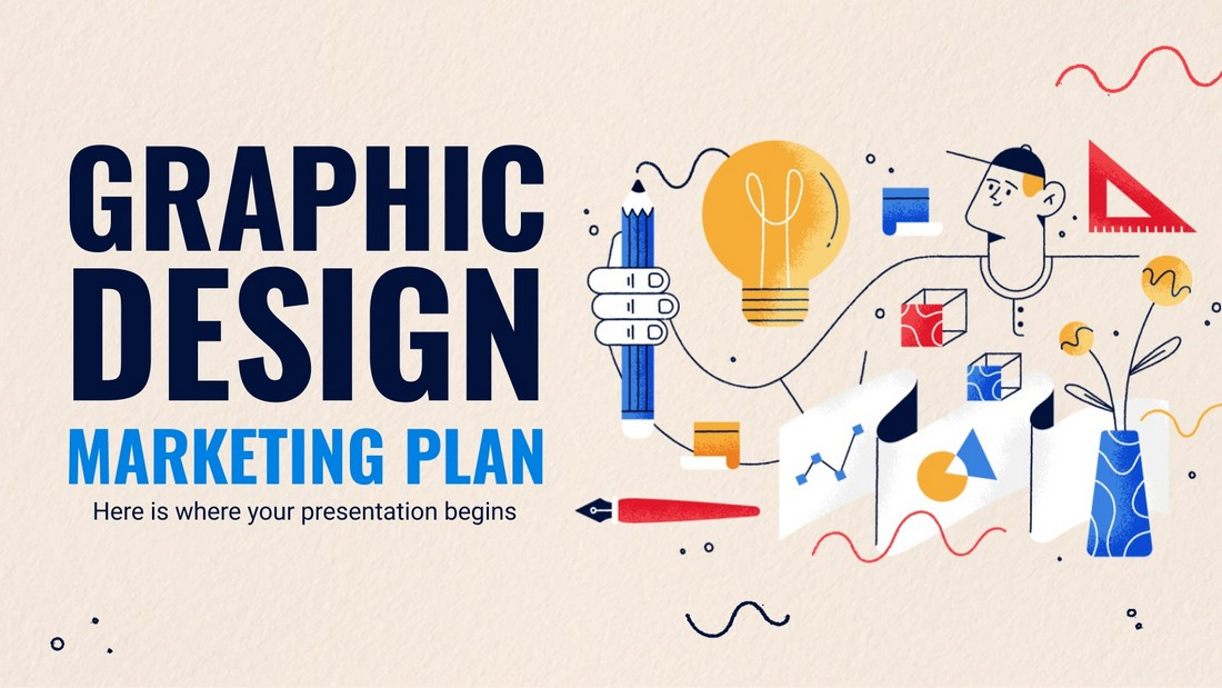 Free Graphic Design Marketing Plan PowerPoint Template