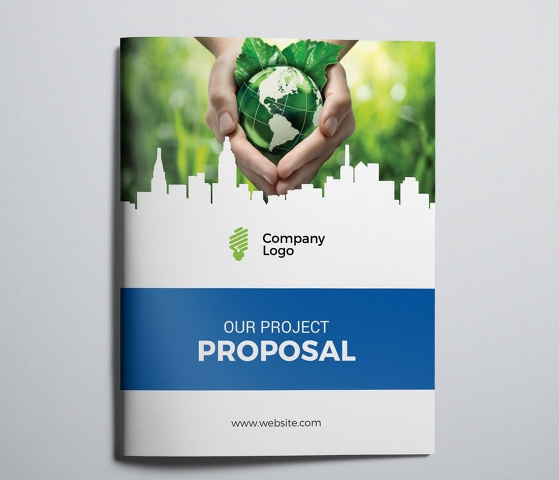 Free Green Project Proposal Brochure Template