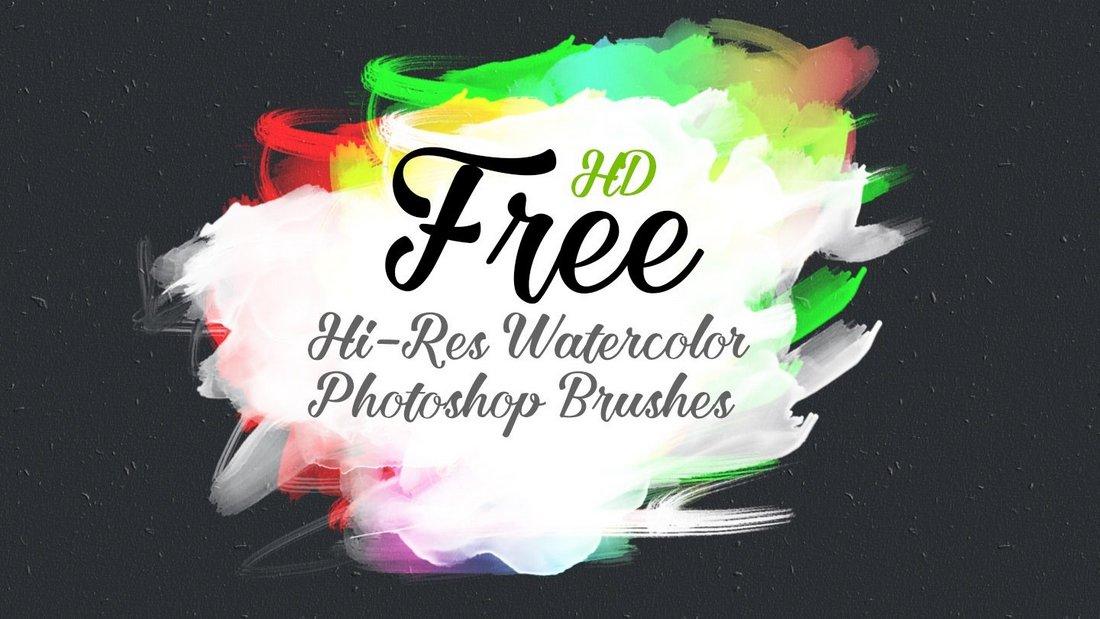 Free HD Watercolor Photoshop Brush