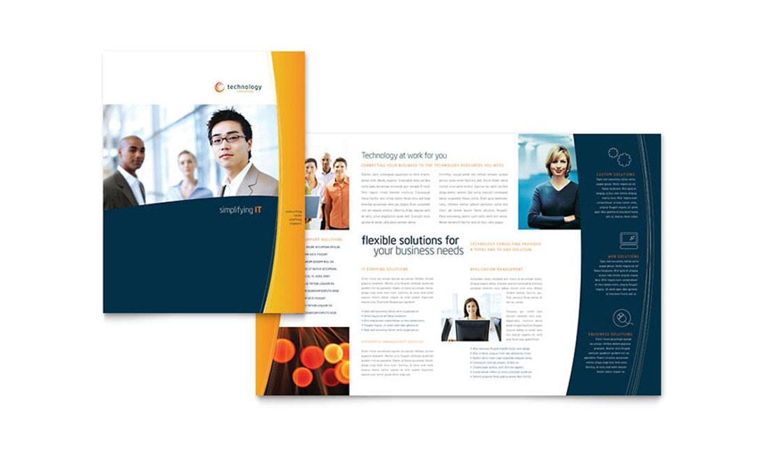 Free Half-Fold Word Brochure Template