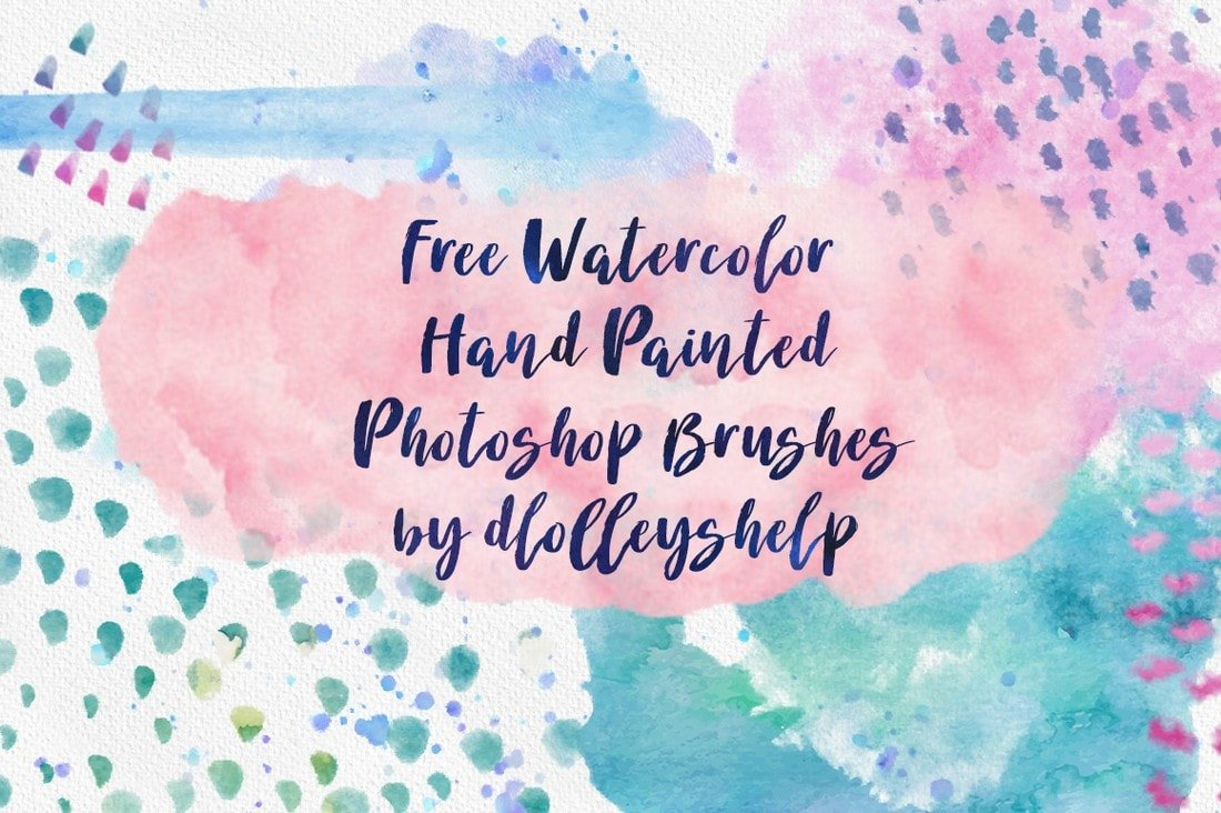 Free Hand-Painted Watercolor Brushes
