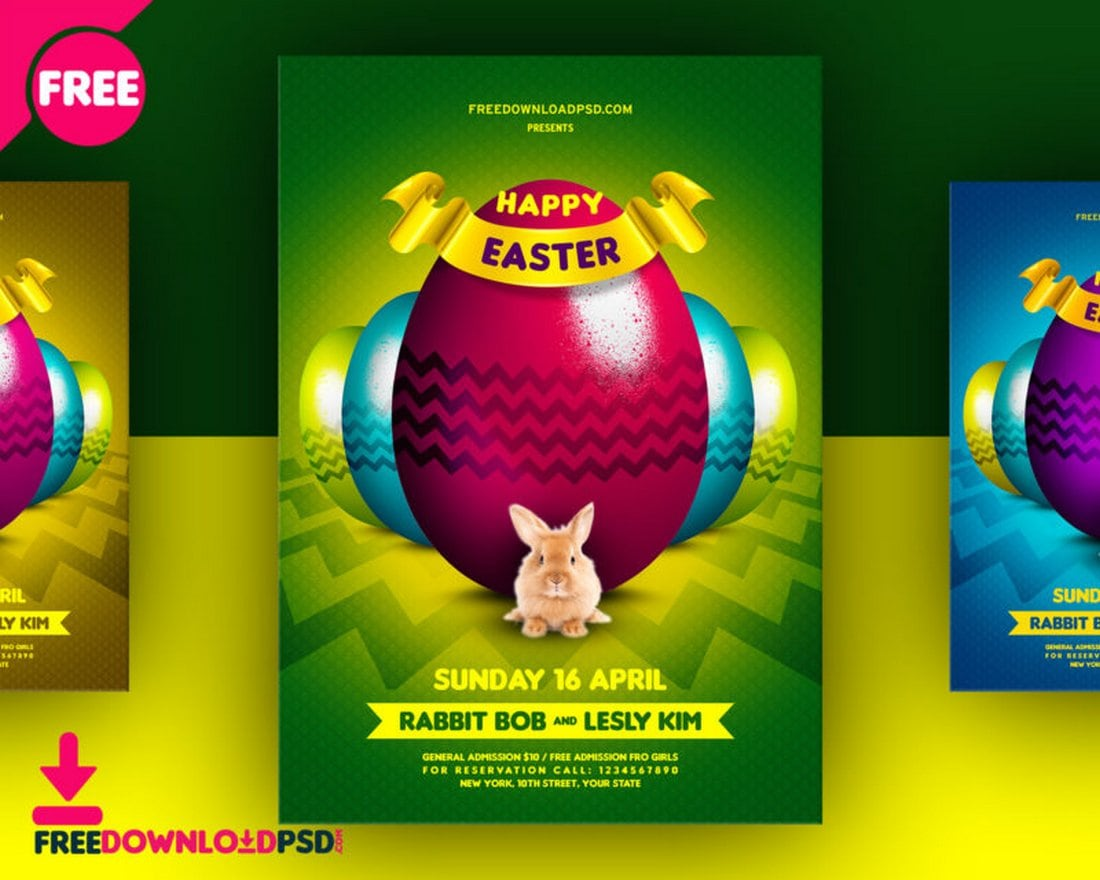 Free Happy Easter Flyer Template