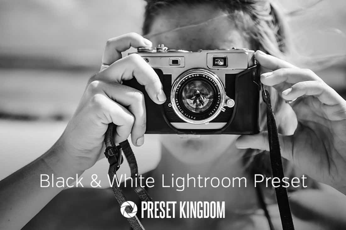 Free High Contrast Black & White Lightroom Preset
