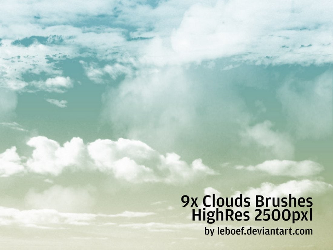 Free High-Resolution Cloud Brushes