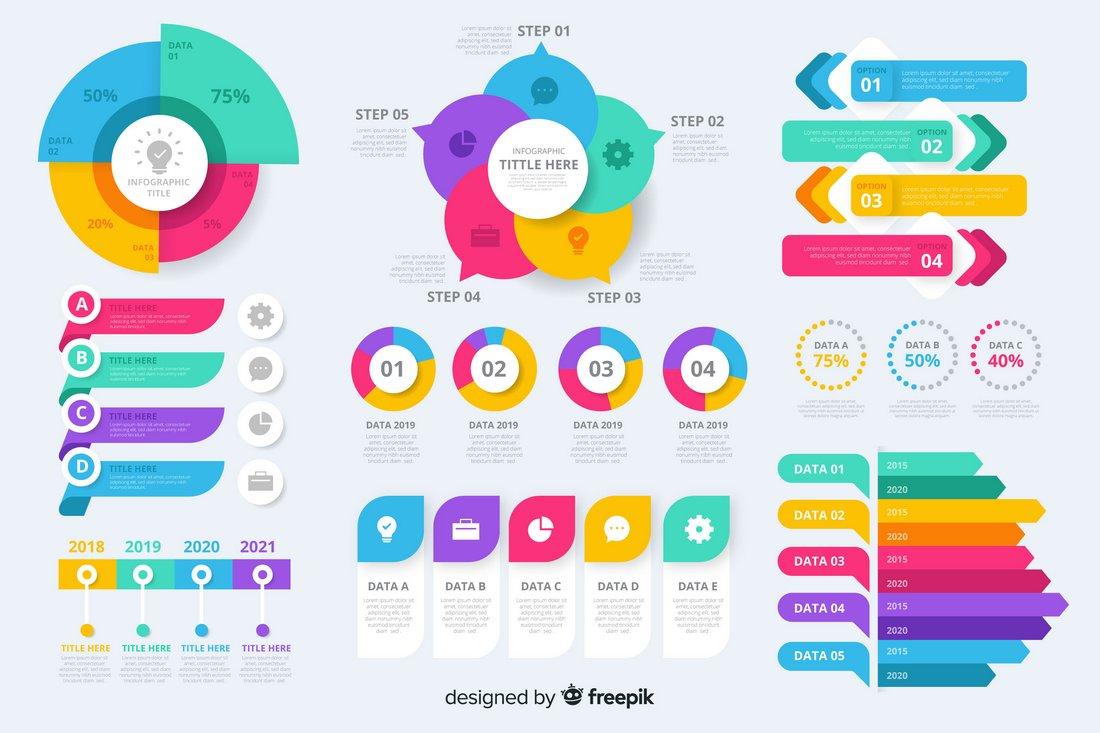 Free Infographic Elements Bundle