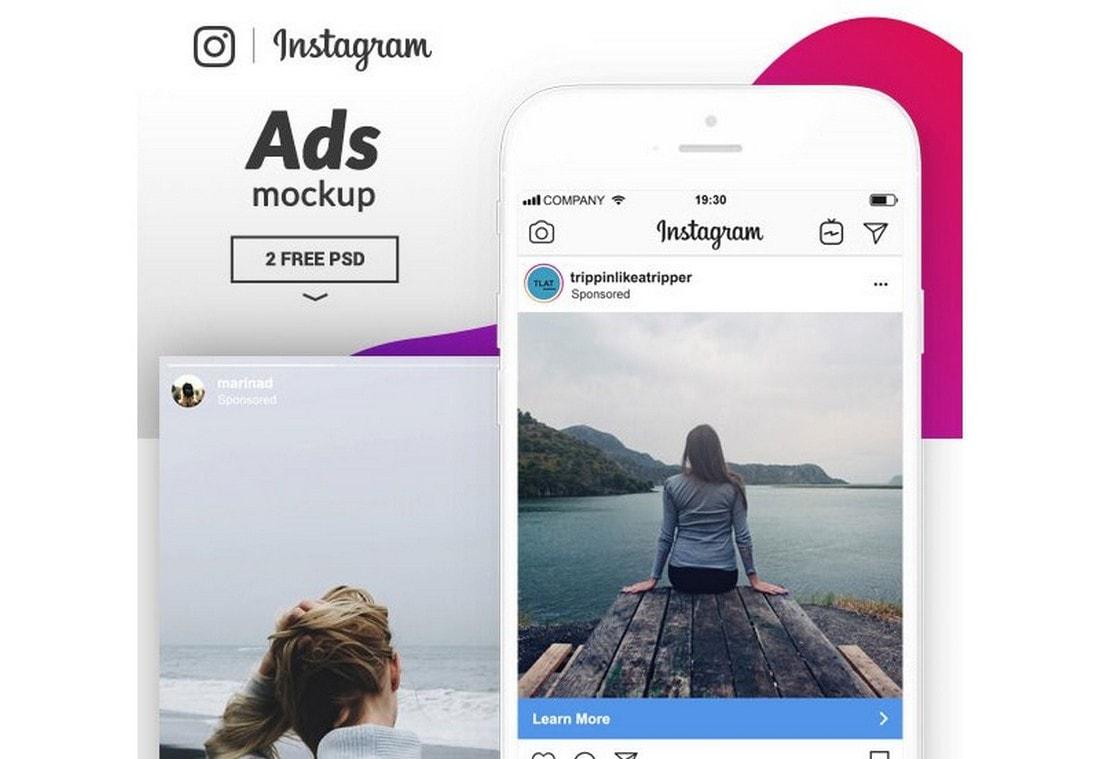 Free Instagram Ads Mockup Template