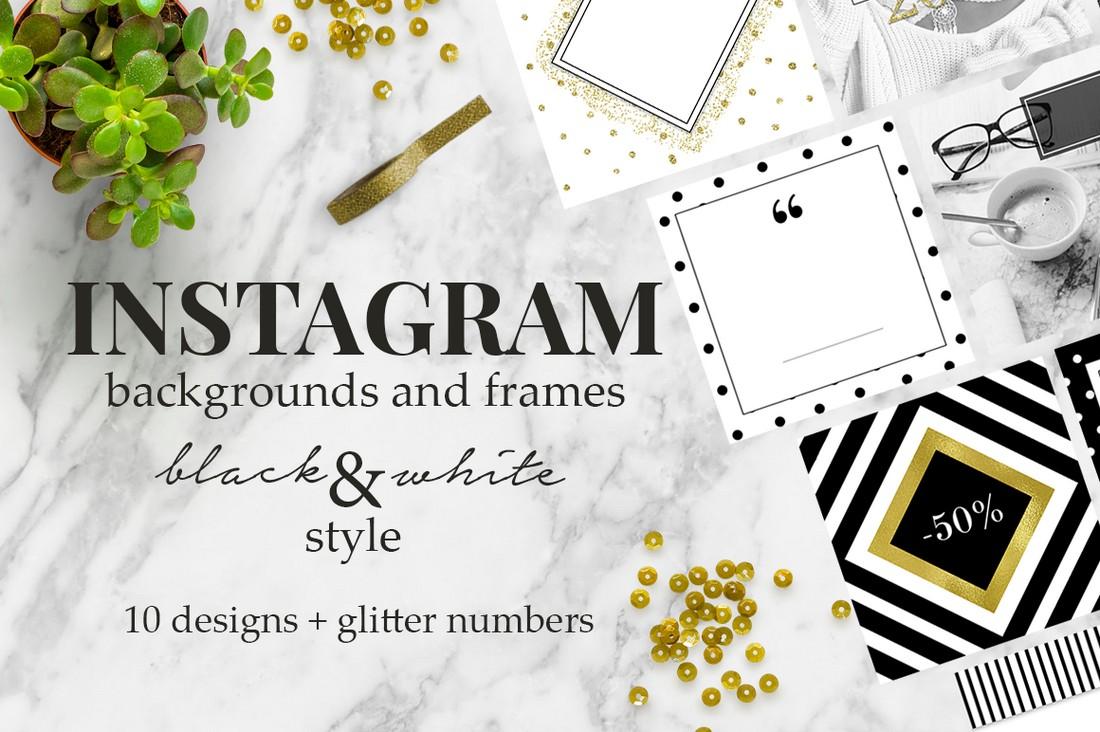 Free Instagram Frames & Background Templates