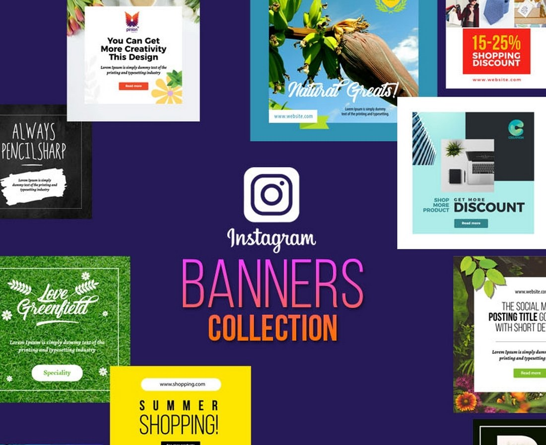 Free Instagram Giveaway Banners Collection