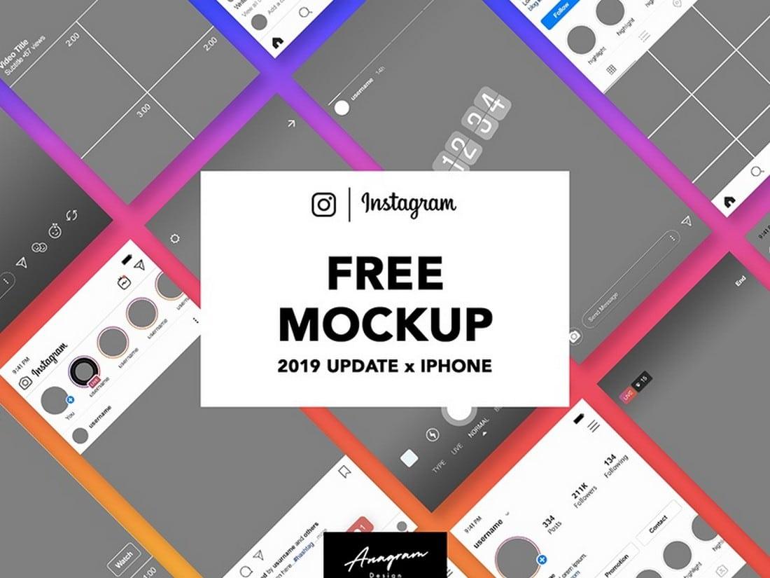 Free Instagram Mockup Post & Story