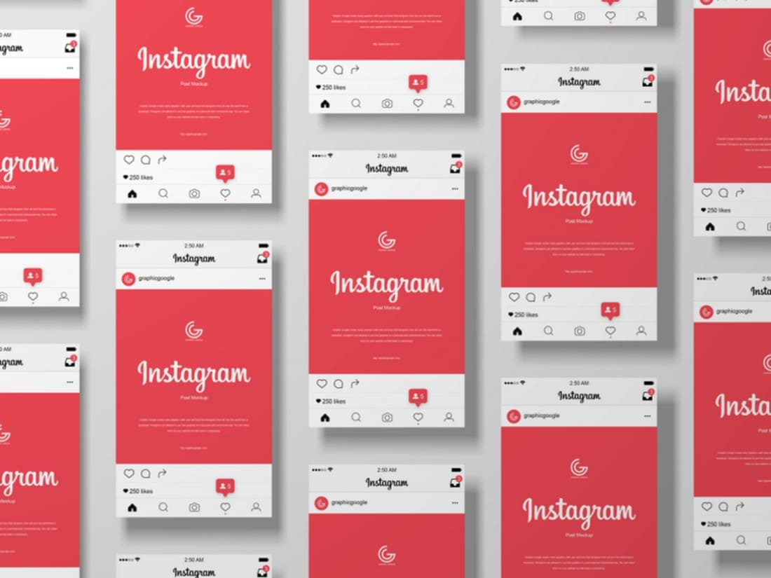 Free-Instagram-Post-Mockup-Templates 20+ Best Instagram Mockup Templates (Story & Post) design tips