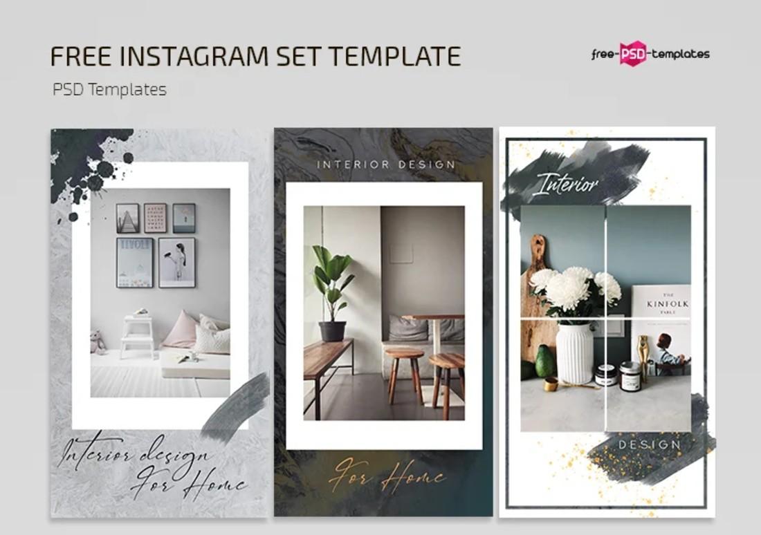 Free Interior Design Instagram Story Templates
