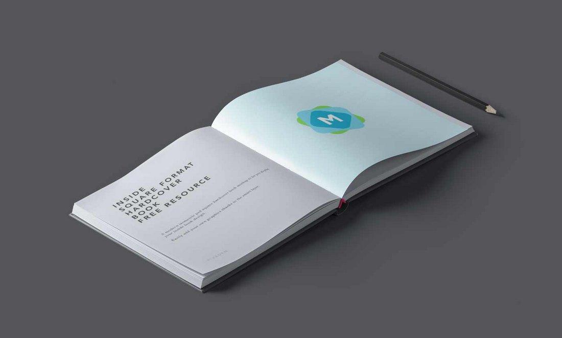 Free Isometric Book Mockup Template