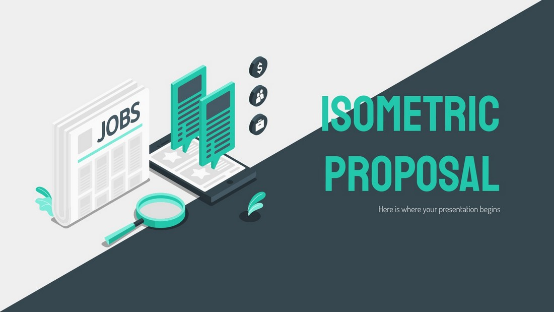 Free Isometric Proposal PowerPoint Template