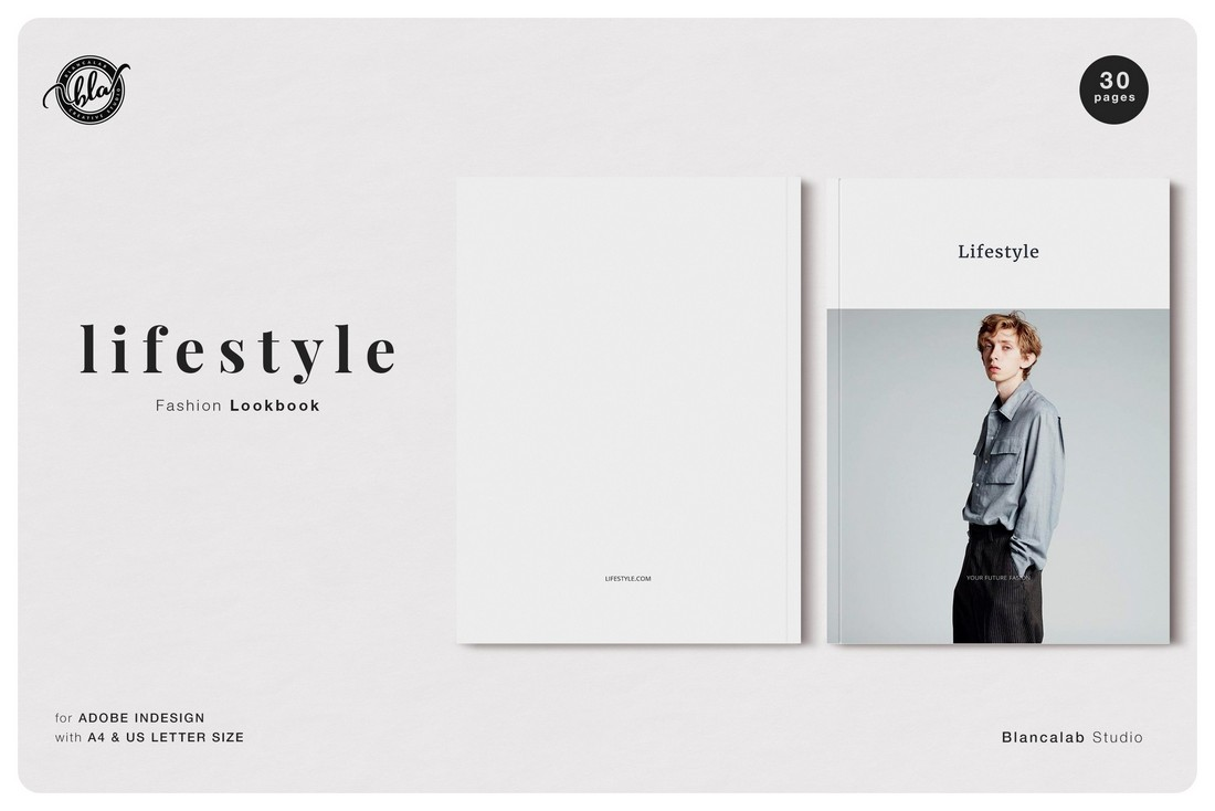 Free Lifestyle Fashion Lookbook Template