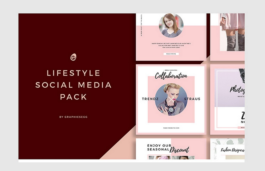Free Lifestyle Instagram Banner Templates
