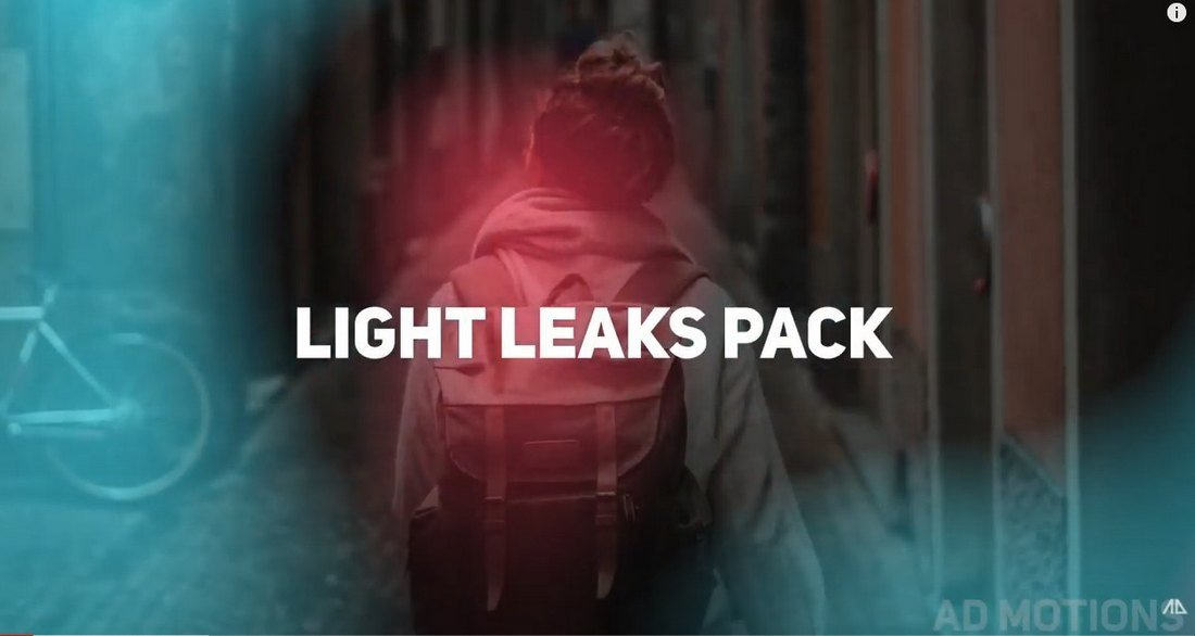 Free Light Leaks Overlay Pack for After Effects