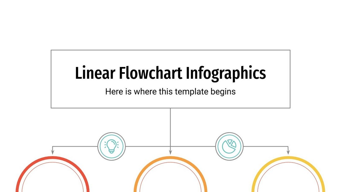 Free Linear Flowchart Slides for PowerPoint