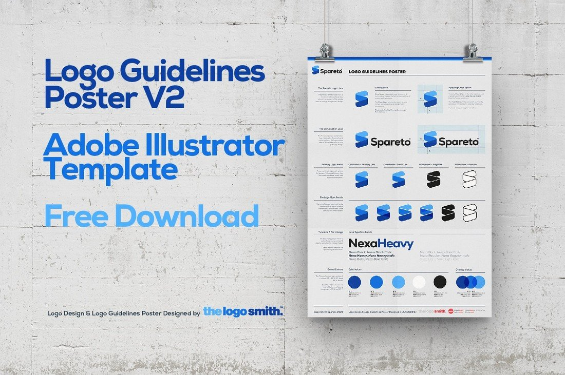 Free Logo Guidelines Poster Template
