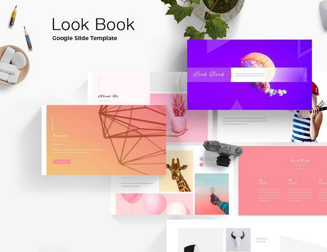Free Look Book Google Slide Template