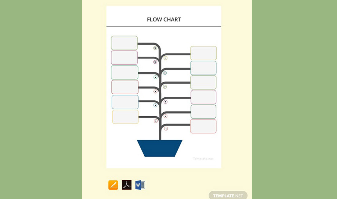 Free MS Word Flow Chart Template