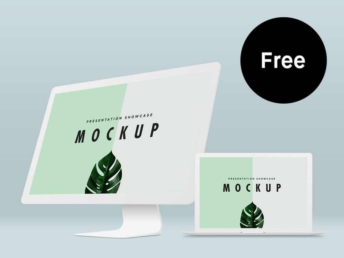 Free-Macbook-Pro-iMac-Mockup-Template 40+ iMac Mockup PSDs, Photos & Vectors design tips