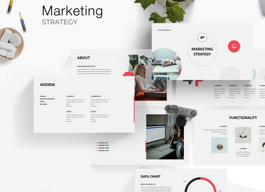 Free Marketing Strategy PowerPoint Template