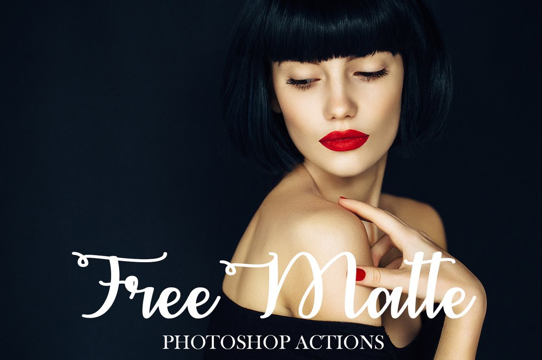 Free-Matte-Photoshop-Actions 50+ Best Photoshop Actions of 2020 design tips