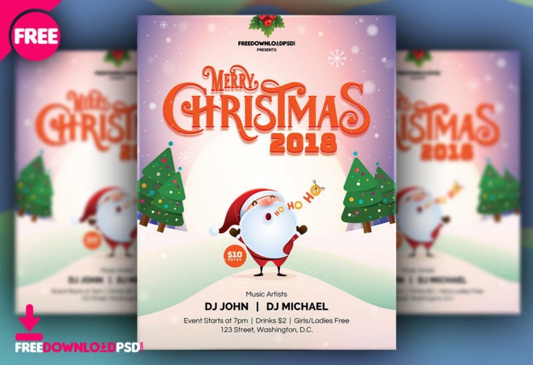 Christmas Flyers Template Free from designshack.net